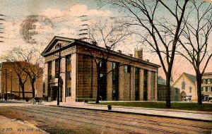 McLevy Hall, Bridgeport (1909 postmark)