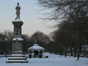 Soldiers' and Sailors' Monument, Milford, facing west