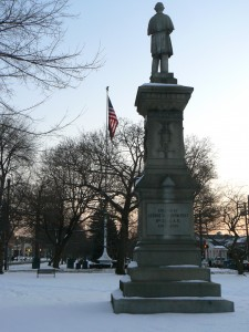 Soldiers' and Sailors' Monument, Milford, facing east