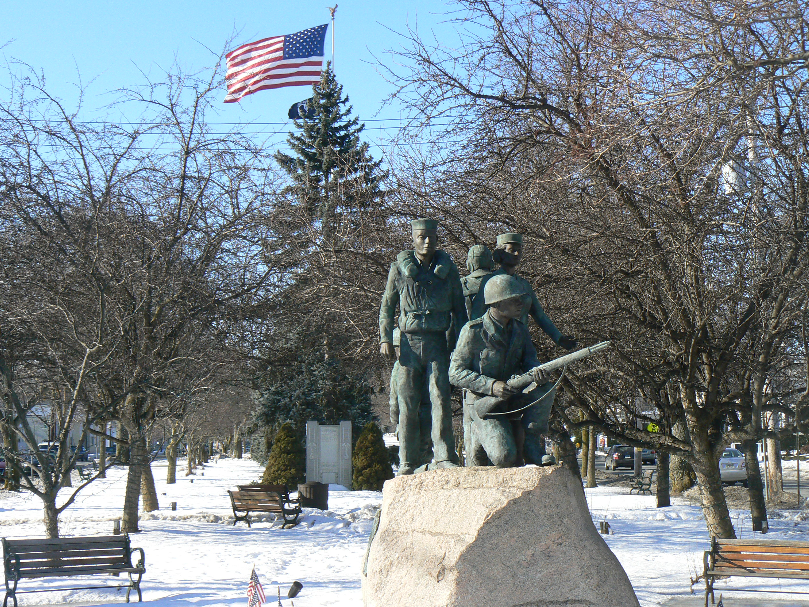 Monument of World War II. Monuments to historical personalities and events 82
