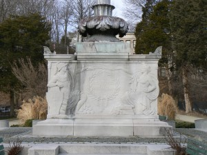 The front (east) face of Naugatuck's World War Monument