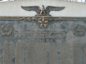 World War Monument, Norwich