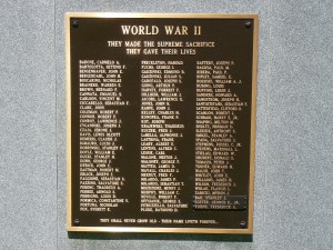 World War II Monument, Middletown