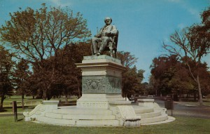P.T. Barnum monument, circa 1960s or so