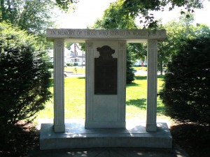World War II Monument, Danielson