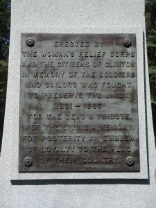 Soldiers' and Sailors' Monument, Clinton