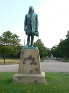 Elias Howe statue, Bridgeport