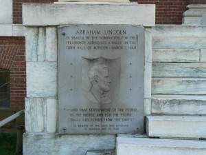 Lincoln Speech Plaque, Meriden