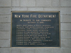 23rd Street Fire Plaque