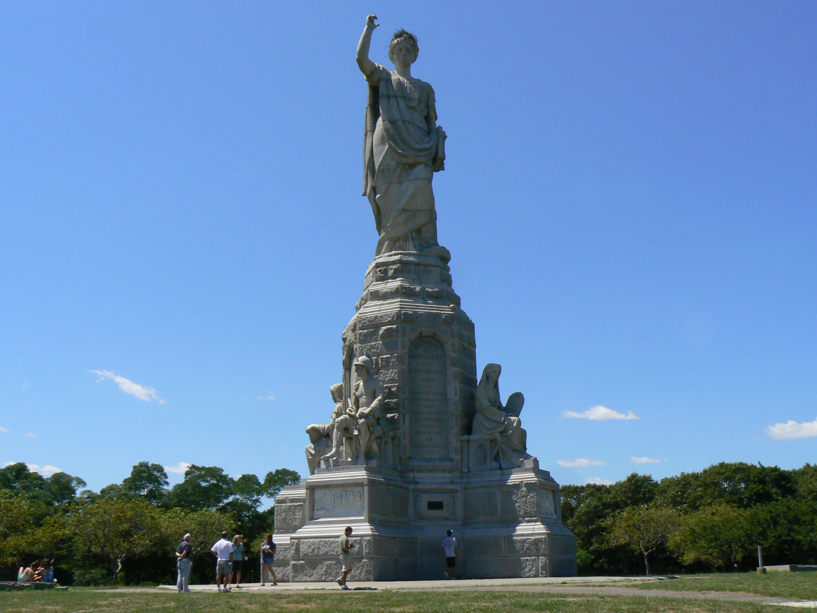 America 39 s christian history the pilgrims the for Facts about the monument