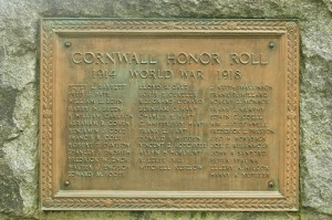 World War I Honor Roll, Cornwall